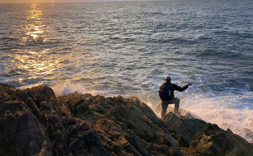Saltwater fly fishing in the relentless Irish Sea